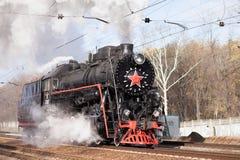 Locomotiva russa Immagine Stock