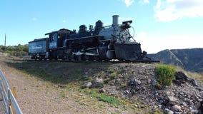 Locomotiva su esposizione alla gola reale Colorado Immagine Stock Libera da Diritti