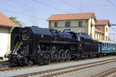 Locomotiva a vapore Fotografie Stock Libere da Diritti