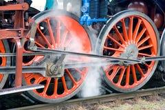 Locomotiva a vapore Albatros 498 022, stazione ferroviaria Smicho di Praga Immagine Stock