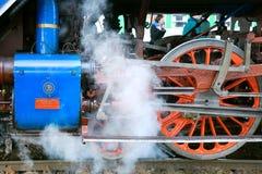 Locomotiva a vapore Albatros 498 022, stazione ferroviaria Smicho di Praga Immagini Stock