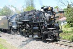 Locomotiva a vapore della strada 765 del piatto di nichel Fotografia Stock