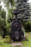 Locomotiva a vapore, ferrovia Fotografia Stock