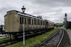 Locomotiva a vapore, ferrovia Fotografie Stock Libere da Diritti
