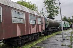 Locomotiva a vapore, ferrovia Immagini Stock