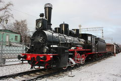 Locomotiva velha. Imagens de Stock