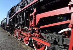 Locomotiva velha do lustrador do vapor Imagens de Stock Royalty Free