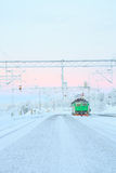 Locomotiva verde del treno Fotografia Stock Libera da Diritti