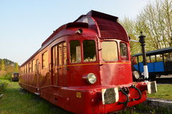 Locomotiva vermelha Fotografia de Stock