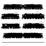 locomotivas ilustração do vetor