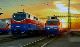 locomotivas Imagens de Stock