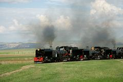 Locomotivas de vapor Imagem de Stock Royalty Free