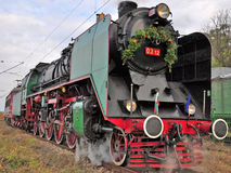 Locomotivas de vapor fotografia de stock