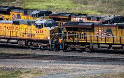 Locomotivas do trem Fotografia de Stock