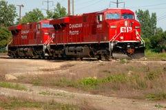 Locomotivas vermelhas da estrada de ferro foto de stock royalty free