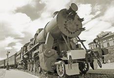 Locomotive à vapeur. Image libre de droits