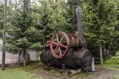 Locomotive à vapeur, chemin de fer Images stock