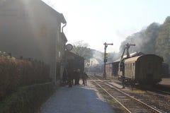 Locomotive à vapeur dans Affectueux-De-Gras, Luxembourg Image libre de droits
