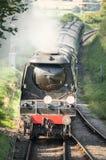 Locomotive à vapeur de cru photographie stock libre de droits