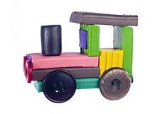 Locomotive à vapeur de pâte à modeler photographie stock libre de droits