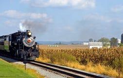 Locomotive à vapeur de pays Photographie stock libre de droits