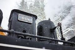 Locomotive à vapeur de Resita image libre de droits