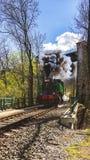 Locomotive à vapeur en vallée de Prokop, Prague image stock
