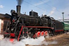 Locomotive à vapeur fonctionnante Images libres de droits