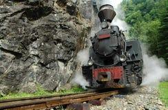 Locomotive à vapeur fonctionnelle photo libre de droits