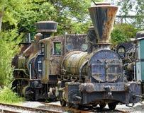 Locomotive à vapeur historique rouillée Images stock