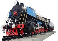 Locomotive à vapeur, rétro monument Photographie stock