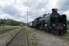 Locomotive à vapeur Ukko-Pekka Photographie stock libre de droits