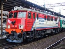 Locomotive électrique d'opérateur de cargaison de PKP sur le central de Danzig Images libres de droits