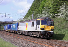 Locomotive électrique de la classe 92 chez Lowgill Images libres de droits