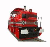 Locomotive. Cargo locomotive isolated on white background Stock Photos