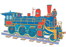 Locomotive. Model of the ancient ship Royalty Free Stock Image