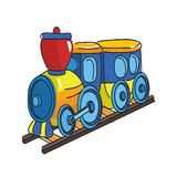 Locomotive du train dessin vectoriel royalty free illustration