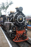 Locomotive. Old type steam  engine still  using in mountain railways Stock Photos