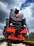 Locomotive. Old locomotive traveling by rail. Shot by cell phone royalty free stock photos