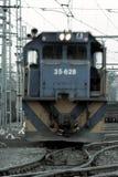 Locomotive. Comming towards camera Stock Photos