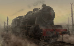 Locomotive. Railroad Museum. Alcazar de San Juan. Spain royalty free stock photo