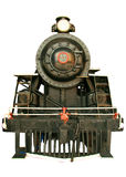 Black steam locomotive Royalty Free Stock Images