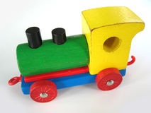 Locomotive. Colorful toy locomotive Royalty Free Stock Photography