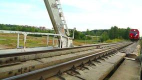 Locomotive approaching camera stock video