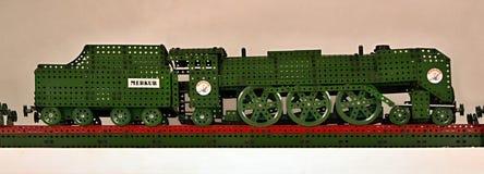 Locomotive assemblée à partir d'un kit Images libres de droits