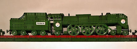 Locomotive assembled from a kit Royalty Free Stock Images