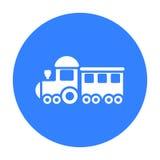 Locomotive black icon. Illustration for web and mobile design. Stock Photo