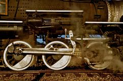 Locomotive blowing off steam Royalty Free Stock Photos