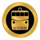 Locomotive button on white. Stock Image