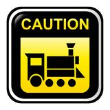 Locomotive caution sign Royalty Free Stock Image